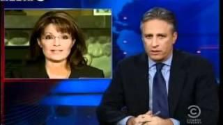 Jon Stewart Mocks Sarah Palin   Jon Stewart on Palin on Hannity   Video   Mediaite