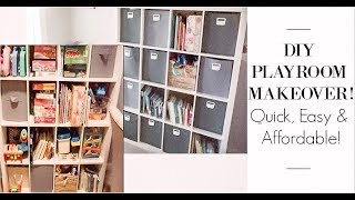 PLAYROOM MAKEOVER | HOW WE ORGANIZE ALL THE KIDS TOYS!