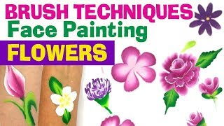 How To Face Paint Flowers Brush Techniques For Face Painting Flowers