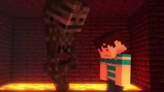 Minecraft анимации. Скелет-Иссушитель vs Стив.