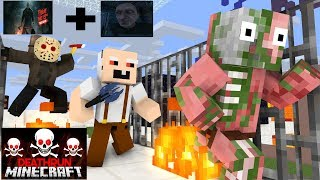 Monster School : Minecraft Death Run (Grandpa,Jason) - Minecraft Animation
