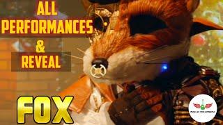 Masked Singer Fox All Performances & Reveal | Season 2