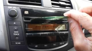 RAV4 Radio CD Issue