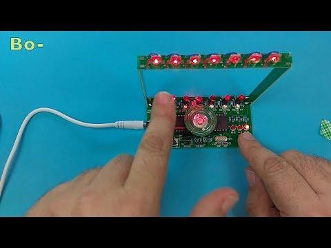 ICStation – DIY Kit C51 MCU Laser Harp Kit String Electronic Keyboard Kit DIY Module