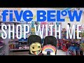 FIVE BELOW SHOP WITH ME   NEW $1 to $5  BACK TO SCHOOL SUPPLIES, SLIME & MORE!!!