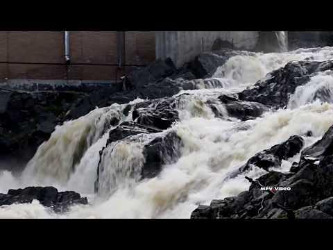 Водопад в Ляскеля / Карелия путешествия туризм