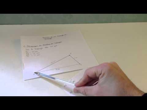 comment trouver x dans un triangle rectangle
