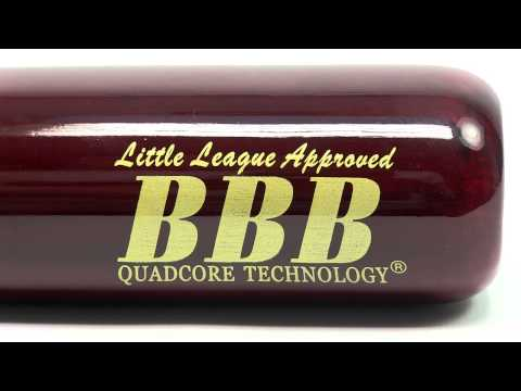 BamBooBat Bamboo Wood Youth Baseball Bat: HNBRY Natural/Red