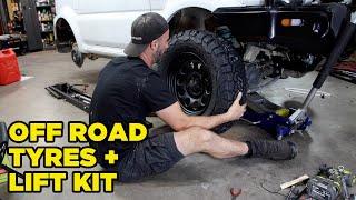 Jimny LIFT KIT Install & Off Road Tyres