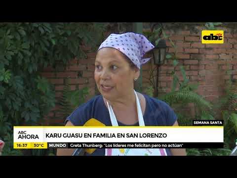 """Karu guasu en familia"" en San Lorenzo"