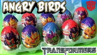 Angry Birds as Transformers Robots Egg Surprise Chocolate Egg Surprise by TOYS CLUB