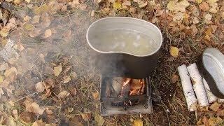 Осенний лес и сырный суп
