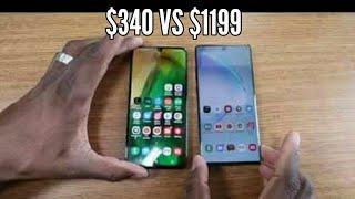 Samsung Galaxy A70 $340 VS Samsung Galaxy Note 10 Plus $1199