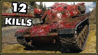 M60 - 12 Kills - World of Tanks Gameplay