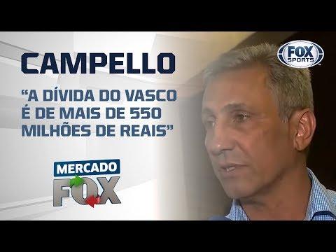 'A DÍVIDA DO VASCO É DE MAIS DE 550 MILHÕES DE REAIS': Alexandre Campello exclusivo no