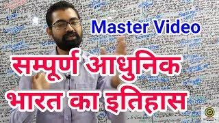 Modern History (सम्पूर्ण आधुनिक भारत का इतिहास)Master Video For IAS,PCS, BPSC, MPPSC, SSC, BANK