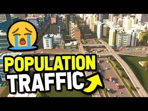 HARD POPULATION AND TRAFFIC CHALLENGE in CITIES SKYLINES