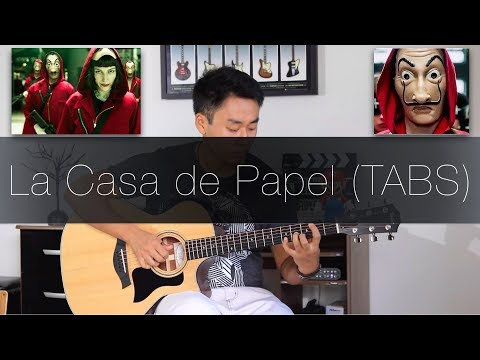 La Casa de Papel Intro - Fingerstyle Guitar Lesson (FREE TABS Tutorial) by Rodrigo Yukio