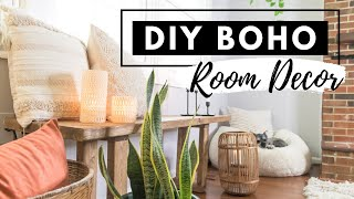 DIY BOHO ROOM DECOR ON A BUDGET | BOHEMIAN LIVING ROOM HOME DECOR