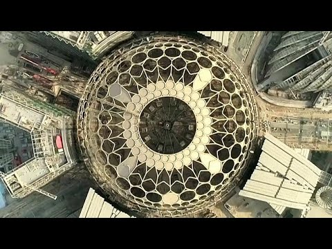 العرب اليوم - فيديو: انتهاء الأعمال في قبة