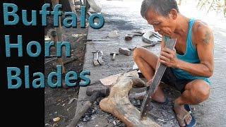 How Blacksmiths make Buffalo Horn Machete Handles