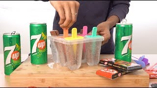 7up With Kit Kat Popsicles