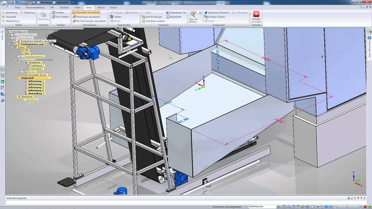 Vorschaubild: Solid Edge: Blechteilerstellung mit Sheet Metal