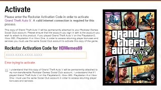rockstar activation code already in use pc - मुफ्त