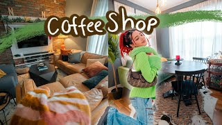 i transformed my apartment into a coffee shop (APARTMENT MAKEOVER + TOUR)
