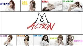 Nine Muses (나인뮤지스) - Action (Lyrics Romanized+English Translation)
