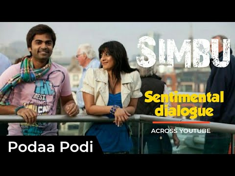 Simbu excellent dialogue with awesome acting in poda podi