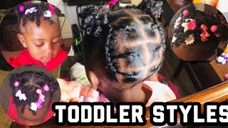 EASY PROTECTIVE HAIRSTYLE FOR SHORT HAIR | BLACK KIDS| TODDLER HAIRSTYLES FOR SHORT NATURAL HAIR