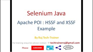 Excel Read Write Example using Apache POI HSSF and XSSF Library