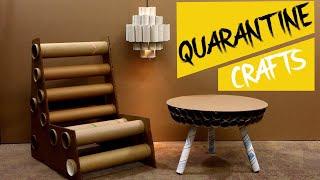 QUARANTINE CRAFTS  : Making Cardboard Furniture!