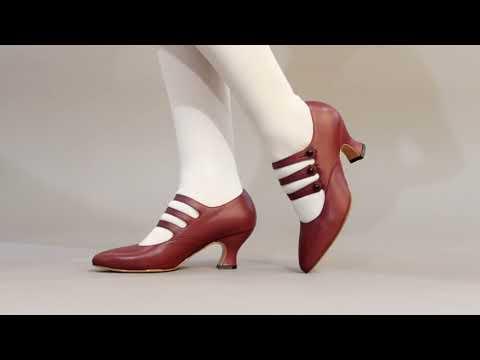 PRE-ORDER Bellatrix Women's Edwardian Shoes (Oxblood)