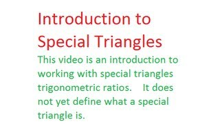 Unit 4 - Special Triangles 1 (Picture Problem)