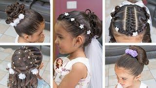 Peinados faciles para 1 comunion