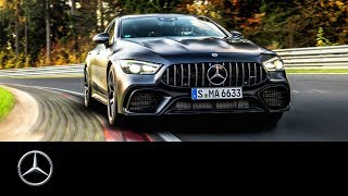 YouTube Video oxyrFLk8JYM for Product Mercedes-AMG GT 4-Door Coupe Sedan (X290) by Company Mercedes-Benz in Industry Cars