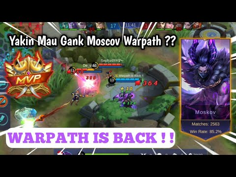 Warpath is Back !! The King of Moscov Twilight Dragon | Mobile Legend