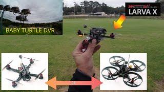 Larva X HD - Happymodel - FPV Flight Footage. CRAZY!