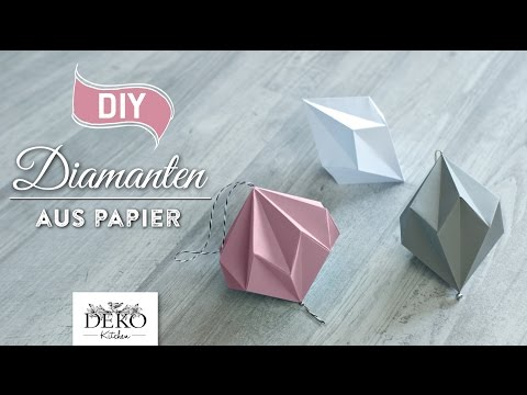 DIY: hübsche Papier-Diamanten selber machen [How to] Deko Kitchen