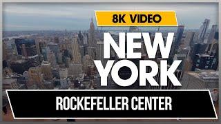 8K 360 VR Video Rockefeller Center New York 5th Ave Manhattan Fall 2018 USA NYC