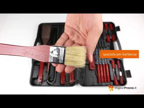 Set accessori barbecue BBQ Master Tools Video Recensione