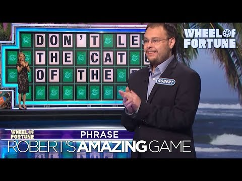 Robert absolutely killing it on wheel of fortune