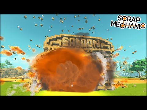 We Found All the Destructible Things and De-Structed Them (Scrap Mechanic Gameplay)