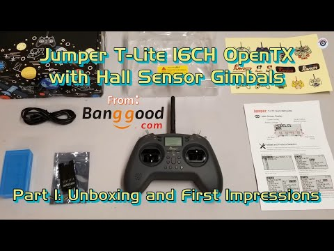 Jumper T-Lite 16CH OpenTX with Hall Sensor Gimbals from Banggood - Unboxing and First Impressions
