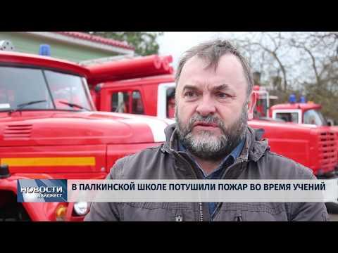 Новости Псков 19.02.2020 / В Палкинской школе потушили пожар во время учений