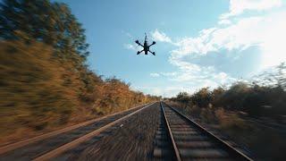 FPV DRONE vs RAILWAY - CHASING