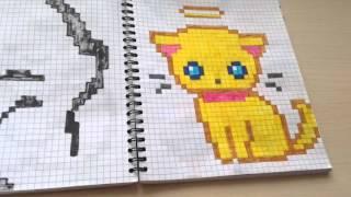 Смотреть онлайн Разные идеи для рисунков в тетради в клеточку