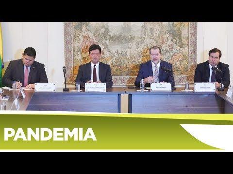 Autoridades dos três poderes se reúnem no STF para discutir Coronavírus - 16/03/20
